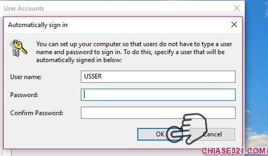 Hướng dẫn bật tự động đăng nhập Windows 10