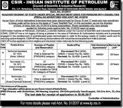 CSIR IIP Recruitment 2017 www.indgovtjobs.in