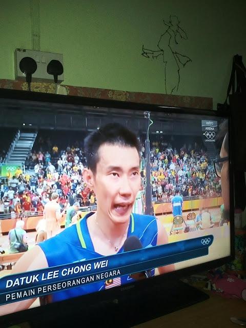 Datuk Lee chong wei ke final badminton olimpik Rio 2016