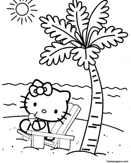 Painting Pages Hello Kitty  Baby Hello Kitty Coloring Pages In  Cute And  Sweet Image