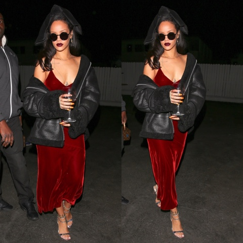 Rihanna in Velvet Vintage Jean Paul Gaultier