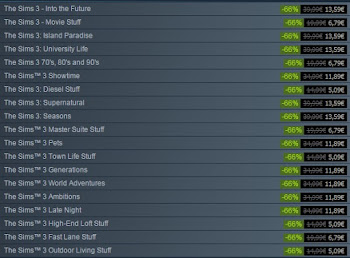 Steam Winter Sale De Sims 3