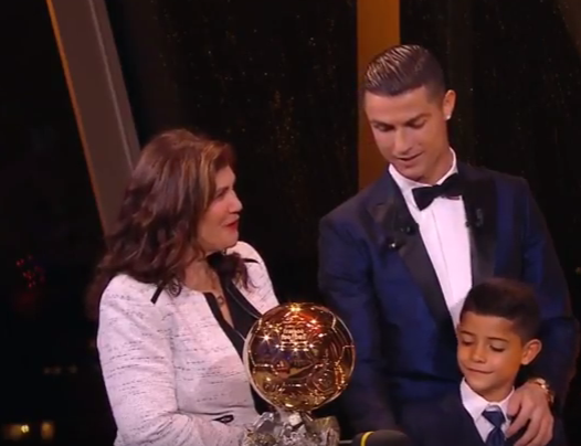 Ronaldo wins 2017 Ballon d'Or, equals Messi's record