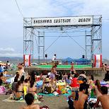 enoshima eastside beach stage in Fujisawa, Kanagawa, Japan