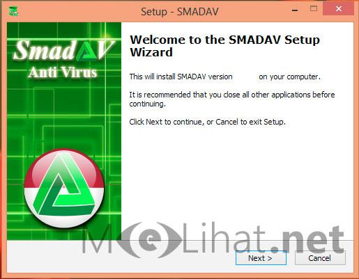 Tampilan Pemasangan Awal Smadav 10.2.1