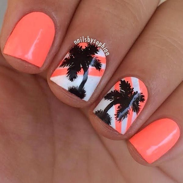 Hot Tropical Nail Art Sunsets Sea Turtles And Sandy