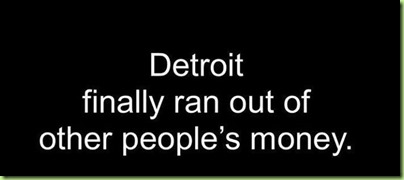 detroit ran out of money
