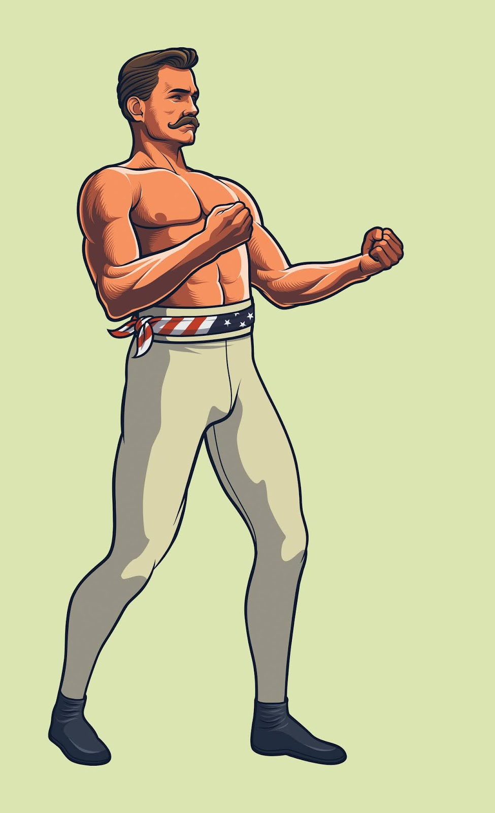 Bare Knucke Boxing Fighter Full Body Free Download Vector CDR, AI, EPS and PNG Formats