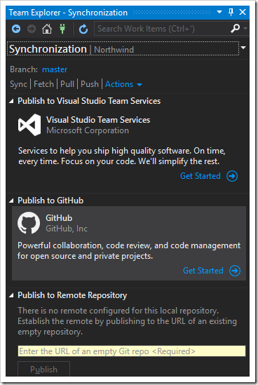 Getting started to synchronize your repo with Github.