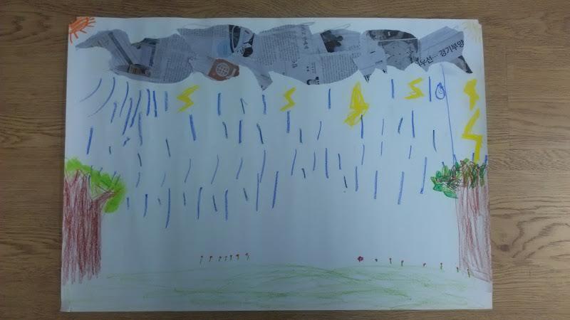 빗방울 표현하기