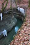 ET AU MILIEU COULE UNE RIVIÈRE?Un affluent du Rhône dans la petite ville d'Eloise