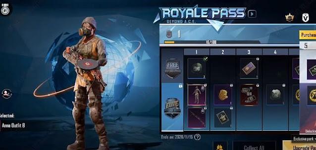 PUBG Mobile Sezon 16 Royale Pass 1-100 RP ödülleri