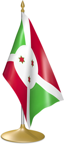 Burundian table flags - desk flags