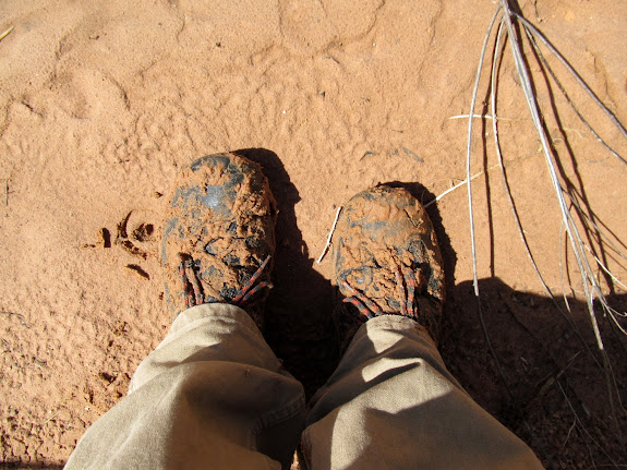 My shoes after I discovered some quicksand