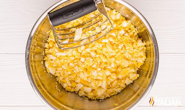 chopped hard boiled eggs