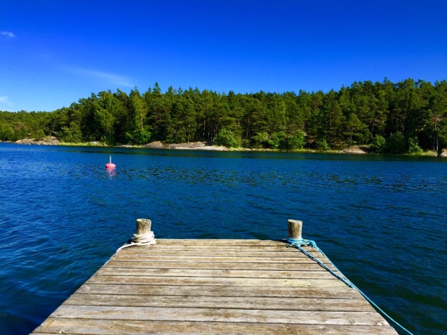 this is our jetty on runmar where we can dock boats watch the sunsets and go for a swim - Island Life