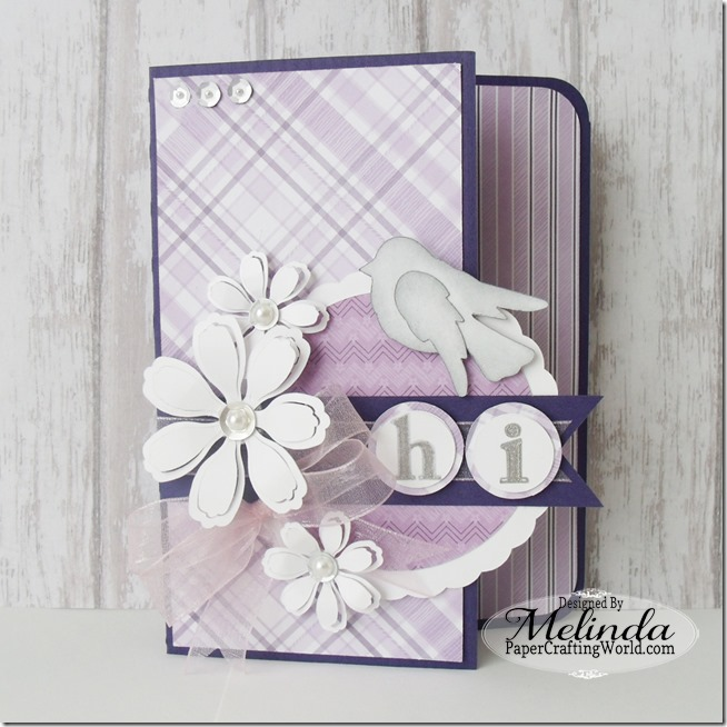 SVG Flower Cut File Card Melinda Beltran