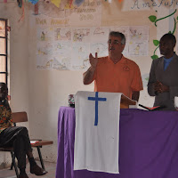 Pastor Jeff preaches.