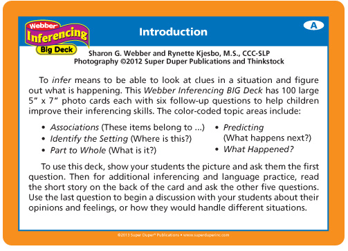 Webber Inferencing Big Deck Introduction
