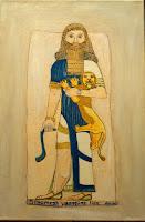Babylon Sumerian Anunnaki Gilgamesh overcomes a lion