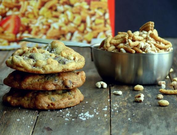 Dark Chocolate-Sea Salt Kashi Cereal Cookies Recipe