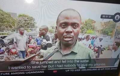Man allows woman drown just to save his phones from getting wet