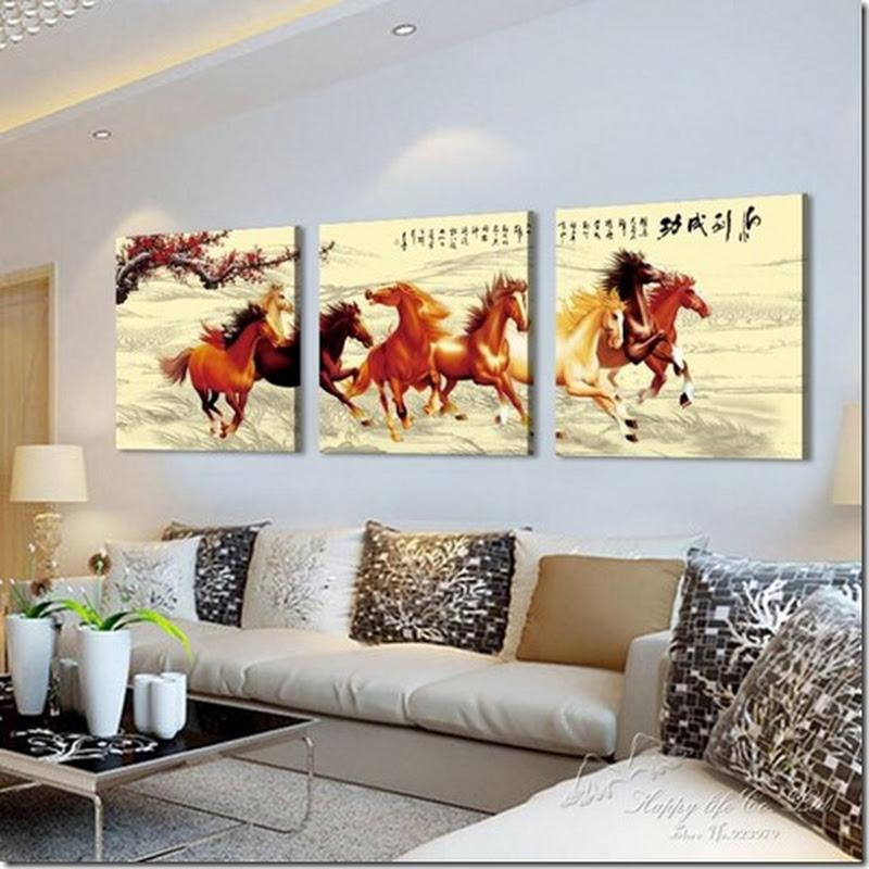 ภาพกรอบลอย ม้ามงคล 8 ตัว เสริม ฮวงจุ้ย มงคล โชคลาภ ความสวยงามแก่บ้าน 2