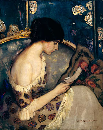 Agnes Goodsir - A letter from the Front(Girl on couch)