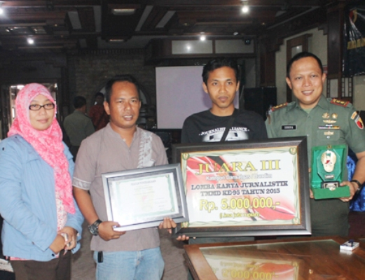 Juara Tiga Lomba Karya Jurnalistik, Kodim Bojonegoro adakan Tasyakuran