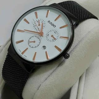 jam tangan Rado tgl rantai pasir black