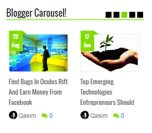 Responsive Blogger Carousel For Blogspot Blogs