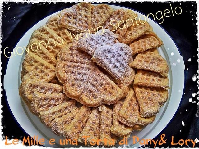 waffle per san valentino - con il bimby