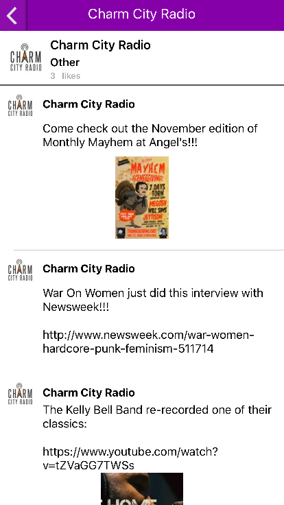 Charm City Radio- screenshot