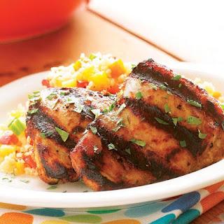 Grilled Tandoori-Style Chicken Thighs.