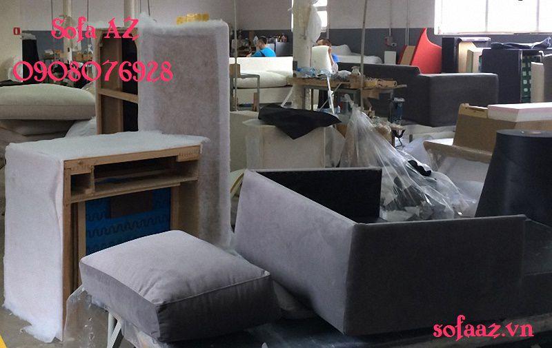 Đóng ghế sofa góc bọc ghế salon da bò quận 7