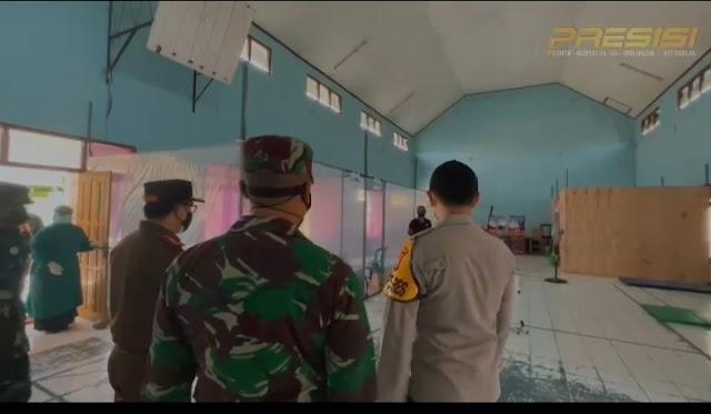 Kapolres Nganjuk bersama Forkopimda Meninjau Tempat Isoter Di Beberapa Wilayah di Kabupaten Nganjuk