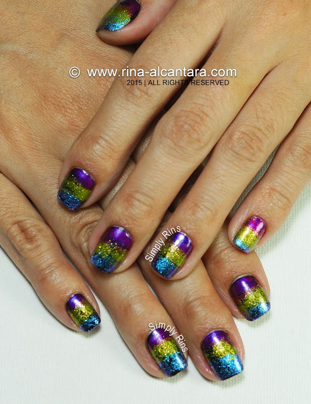 Fantastical Sponged Nail Art Design by Simply Rins