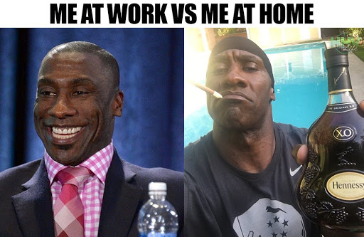 Me at work vs me at home