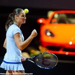 STUTTGART, GERMANY - APRIL 21 : Monica Niculescu in action at the 2016 Porsche Tennis Grand Prix
