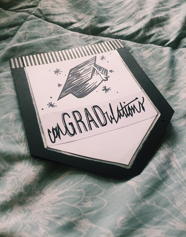 handmade graduation card: conGRADulations