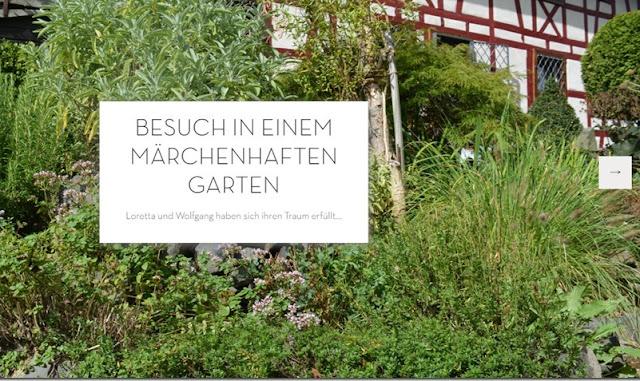 Der Journalist Frank Gerdes zu Besuch in unserem Garten