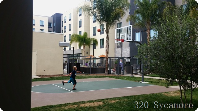 disneyland hotel basketball court
