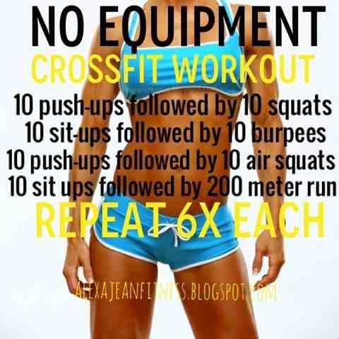 alexa jean no equipment crossfit workout