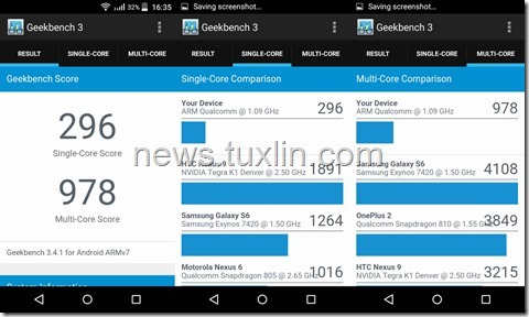 Benchmark Acer Liquid Z320 Geekbench 3
