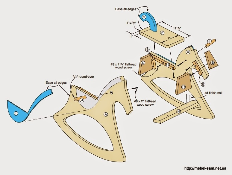 Схема сборки лошадки качалки