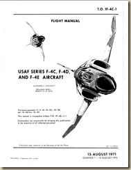Aviation Archives: F-4C,D and E Flight Manual Update