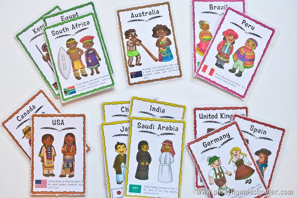 Multicultural Traditional Costume Cards