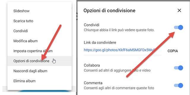 opzioni-condivisione-google-foto
