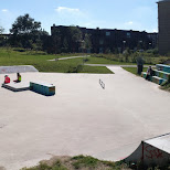 the skatepark in IJmuiden in Velsen, Noord Holland, Netherlands