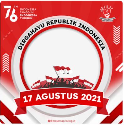 Twibbon Ucapan Dirgahayu Indonesia Ke-76 Terbaik 2021